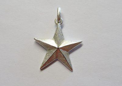 Stern-Anhänger groß in Silber