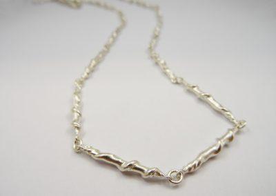 Kette gedrehte Stäbchen aus Silber