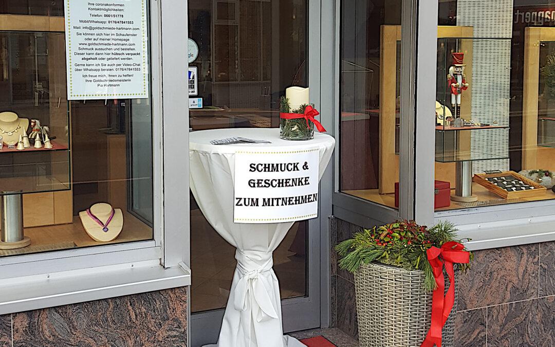 Abholstation für bestellten Schmuck