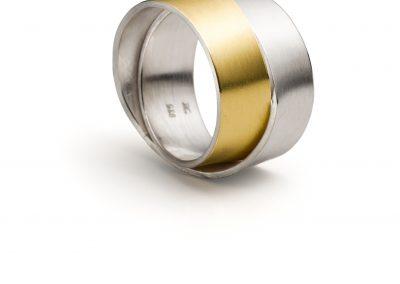 Goldschmiede Pia Hartmann_Manu_Ring Silber, Gold_R907