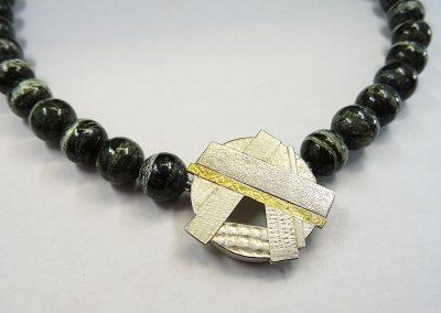 Wechselschließe Silber und Feingold mit verschiedenen Strukturen